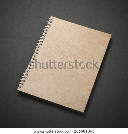 spiral close notebook - stock photo