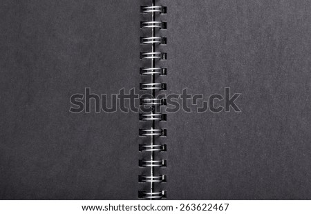 Spiral coil notebook cover  - stock photo
