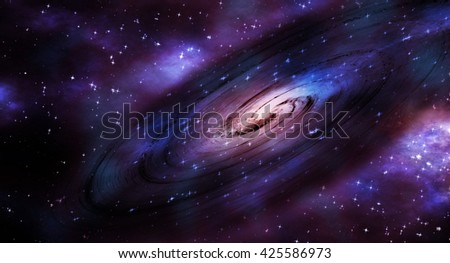 Spiral Galaxy - Background Suitable for Custom Content - stock photo