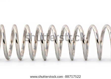 Spiral isolated on white - stock photo