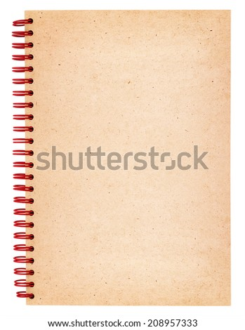 Spiral notebook isolated on white background - stock photo