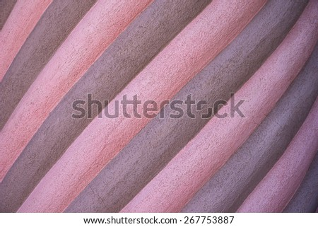 Spiral pink and grey fancy wall as a background  - stock photo