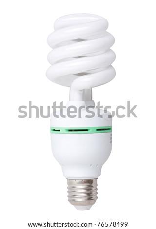 Spiral save energy light bulb - stock photo