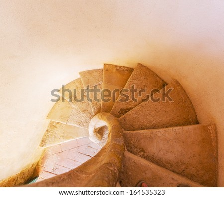 Spiral stair - stock photo