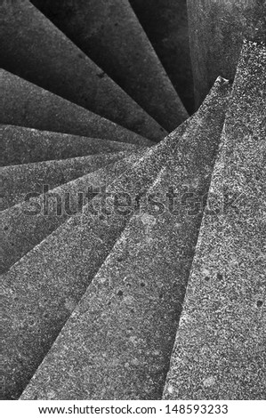 Spiral staircase. - stock photo