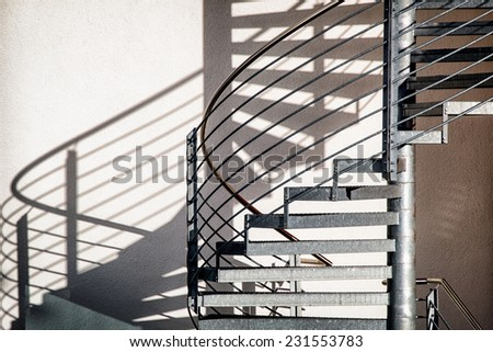 spiral staircase at a modern building - stock photo