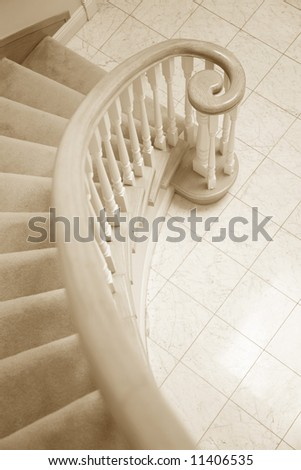 Spiral Staircase close up shot - stock photo