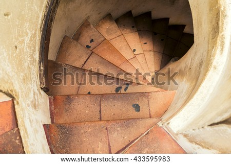 Spiral staircase. stairway to heaven - stock photo