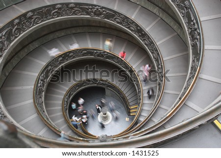 Spiral Stairs Vatican City,Rome - stock photo