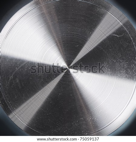 Spiral texture on metal surface - stock photo