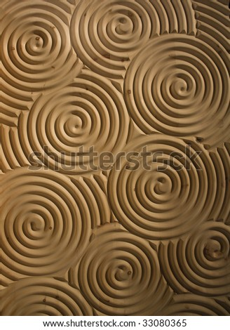 spiral timber & lumber - stock photo