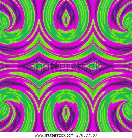 Spiral waves curves abstract geometric colorful classic ornament background pattern - stock photo