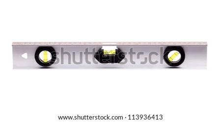 spirit builder's level isolated on white background - stock photo