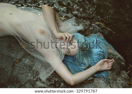 Spirit of the river . Fantasy and myth - stock photo