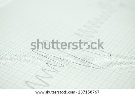 spirometer graph - stock photo