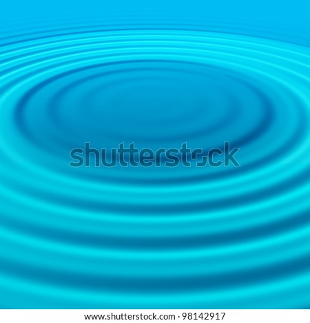 splash effect on water surface - stock photo
