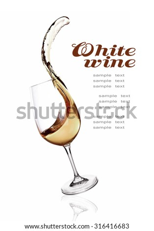 Splash of wine isolated on white - stock photo