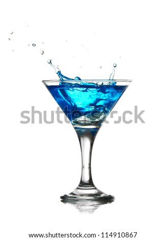 splashing into a martini - stock photo