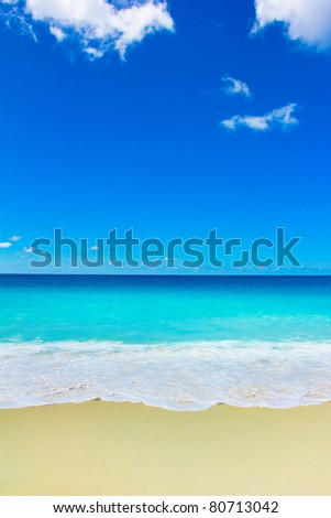 Splashing Surf Scene - stock photo