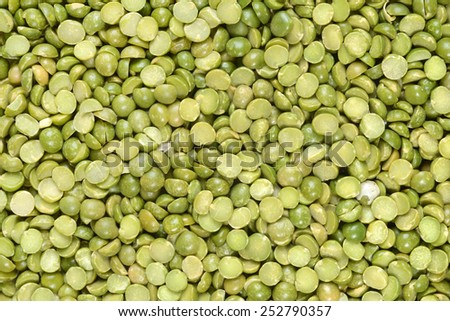 split green pea background - stock photo