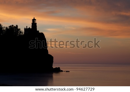 Split Rock Lighthouse on the North Shore of Lake Superior, Minnesota, USA - stock photo