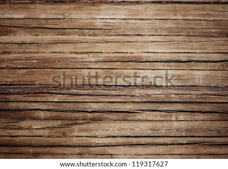 split weathered wood ; grunge background - stock photo