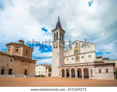 Spoleto Cathedral, Umbria, Italy - stock photo