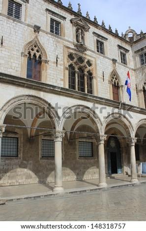 Sponza palace in  Dubrovnik, Croatia - stock photo