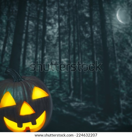 Spooky forest. Abstract Halloween backgrounds for your design - stock photo