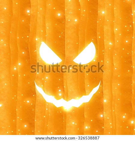Spooky Halloween background - stock photo
