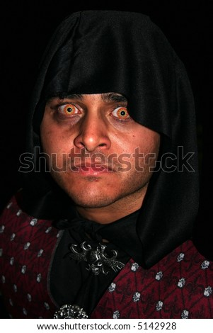 spooky man - stock photo