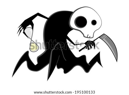 Spooky reaper  - stock photo