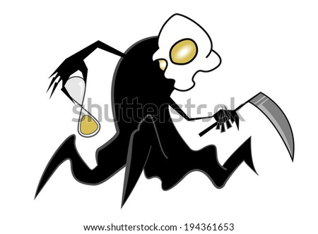 Spooky scythe man  - stock photo