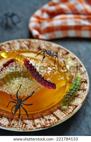 Halloween Jello Worm And Spider Nests Recipes — Dishmaps