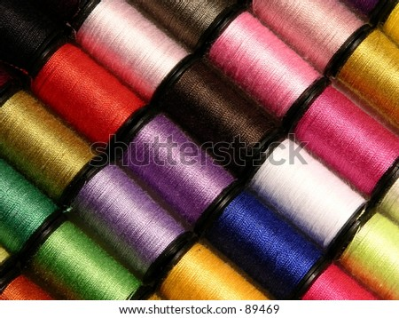 Spools of thread - stock photo