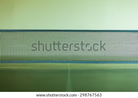 Sport active lifestyle concept. Closeup net for a table tennis - stock photo
