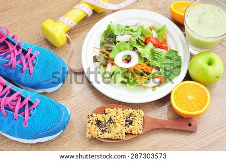 Sport and healthy food for diet,health and diet concept. - stock photo