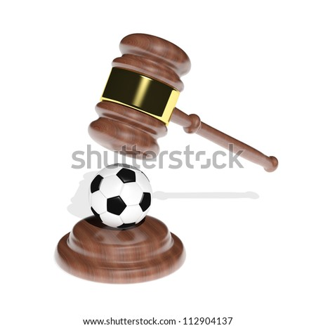 Sport and justice - stock photo