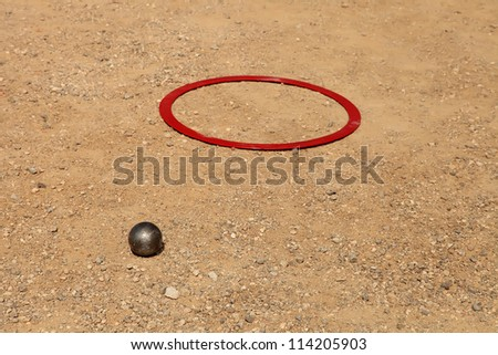 Sport and Recreation - Petanque,  Marseille, France - stock photo
