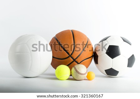 Sport ball object with white background. - stock photo