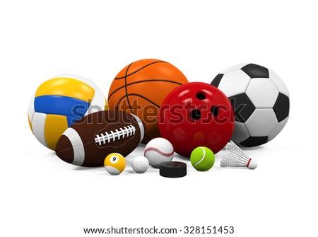 Sport Balls Equipment - stock photo