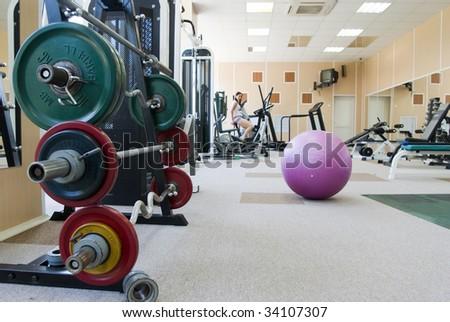 Sport building room interior - stock photo