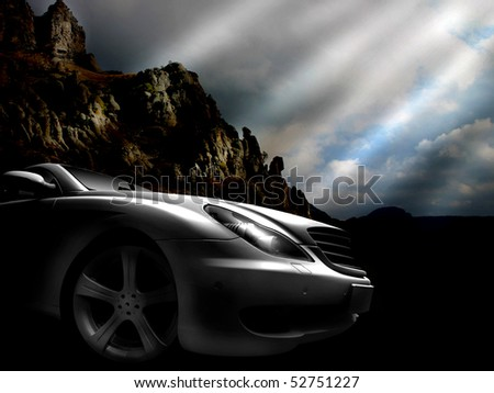 Sport car (Best for web use) - stock photo