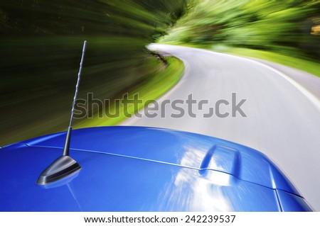 Sport car drive - stock photo