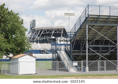 Sport field with seated arena - stock photo