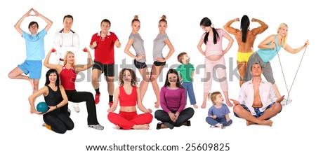sport people collage - stock photo
