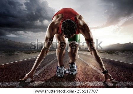 Sport. Runner. - stock photo