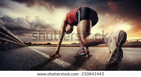 Sport. Runner - stock photo
