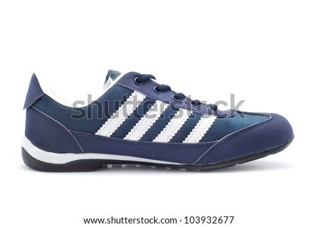 sport shoe side view on white - stock photo