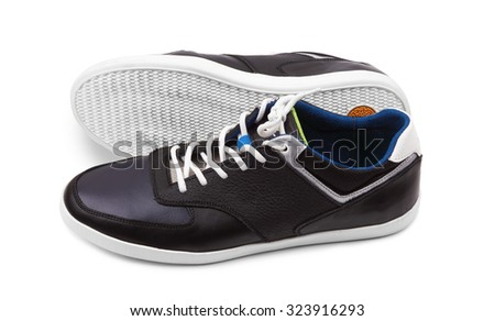 Sport shoes isolated on a white background - stock photo